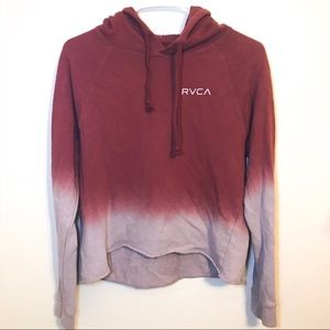 RVCA Cropped Ombré Hoodie size Small